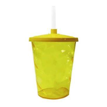 Copo Twister Amarelo 300ml c/tampa