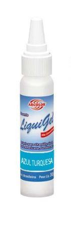 Corante em gel LIQUIGEL 30 g - AZUL TURQUESA
