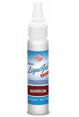 Corante em gel LIQUIGEL 30 g - MARROM