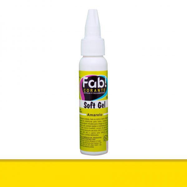 Corante Soft Gel FAB 25 g - Amarelo