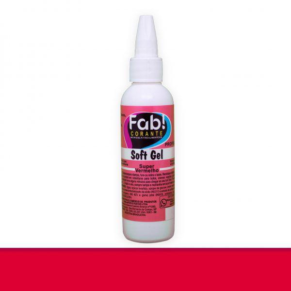 Corante Soft Gel FAB 25 g - Super Vermelho