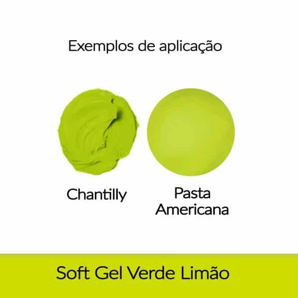 Corante Soft Gel FAB 25 g - Verde Limão