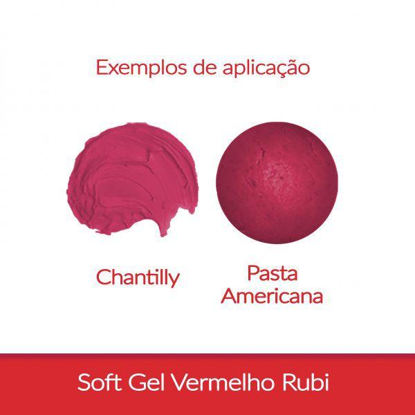 Corante Soft Gel FAB 25 g - Vermelho Rubi