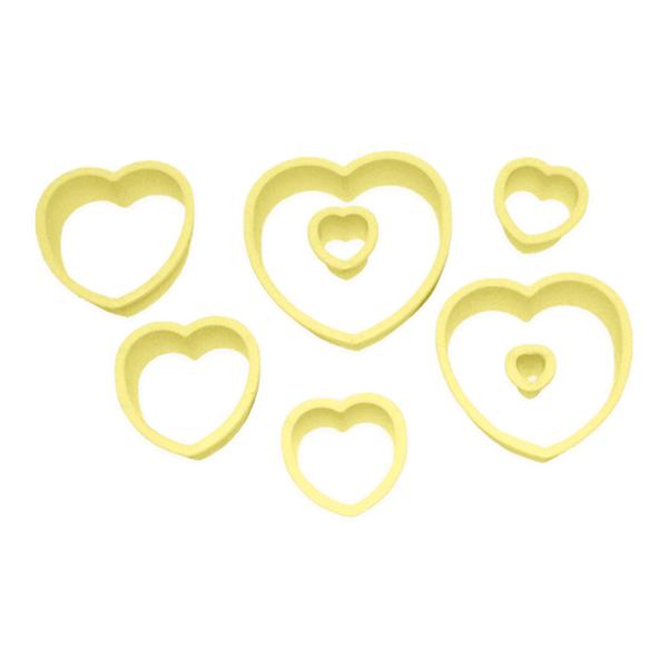 Cortador coração c/8 pçs