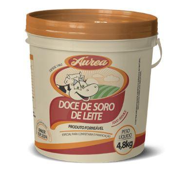 DOCE DE LEITE E SORO DE LEITE  4,8kg, AUREA