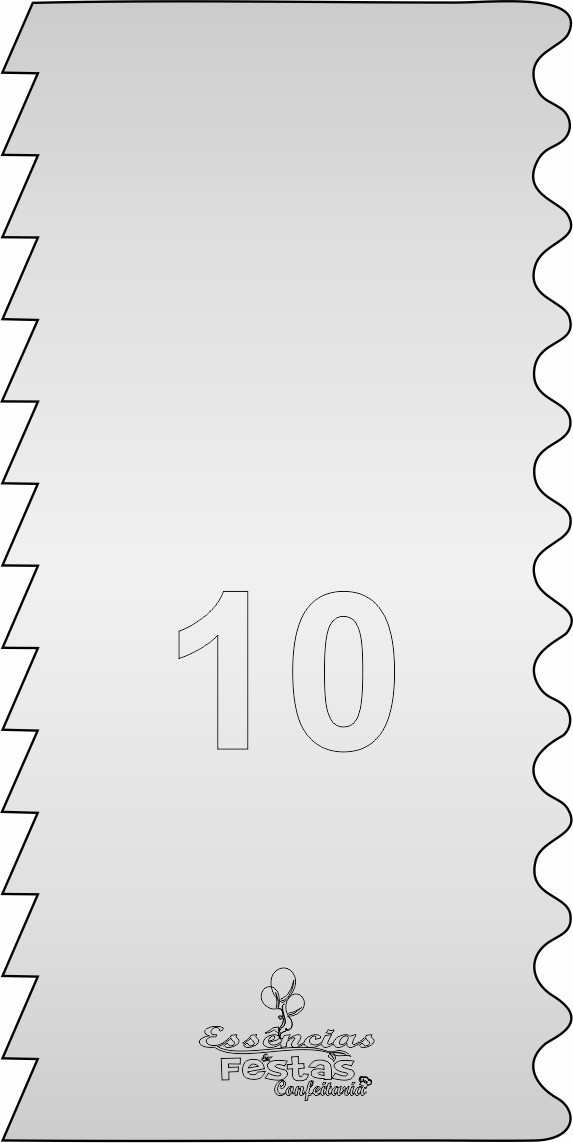 Espátula de acrilico 3mm  Decorativa N°10