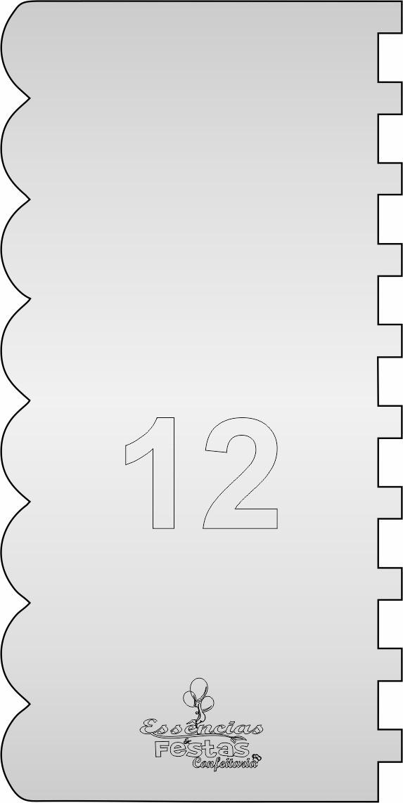 Espátula de acrilico 3mm  Decorativa N°12