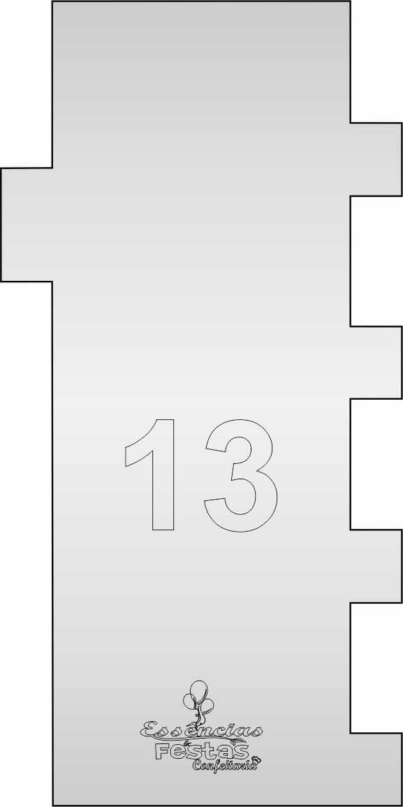 Espátula de acrilico 3mm  Decorativa N°13