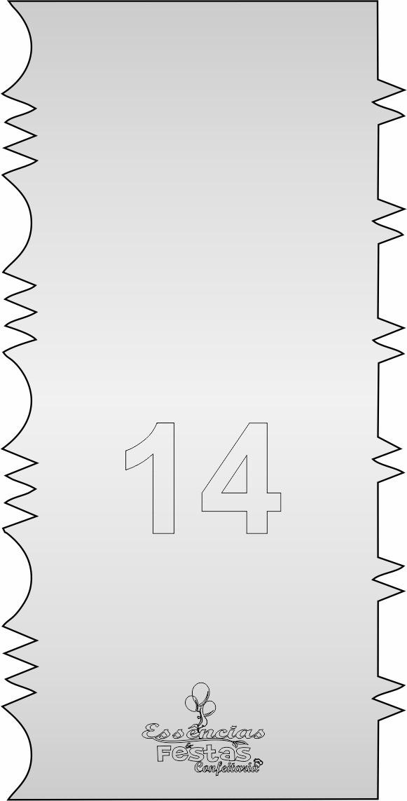 Espátula de acrilico 3mm  Decorativa N°14