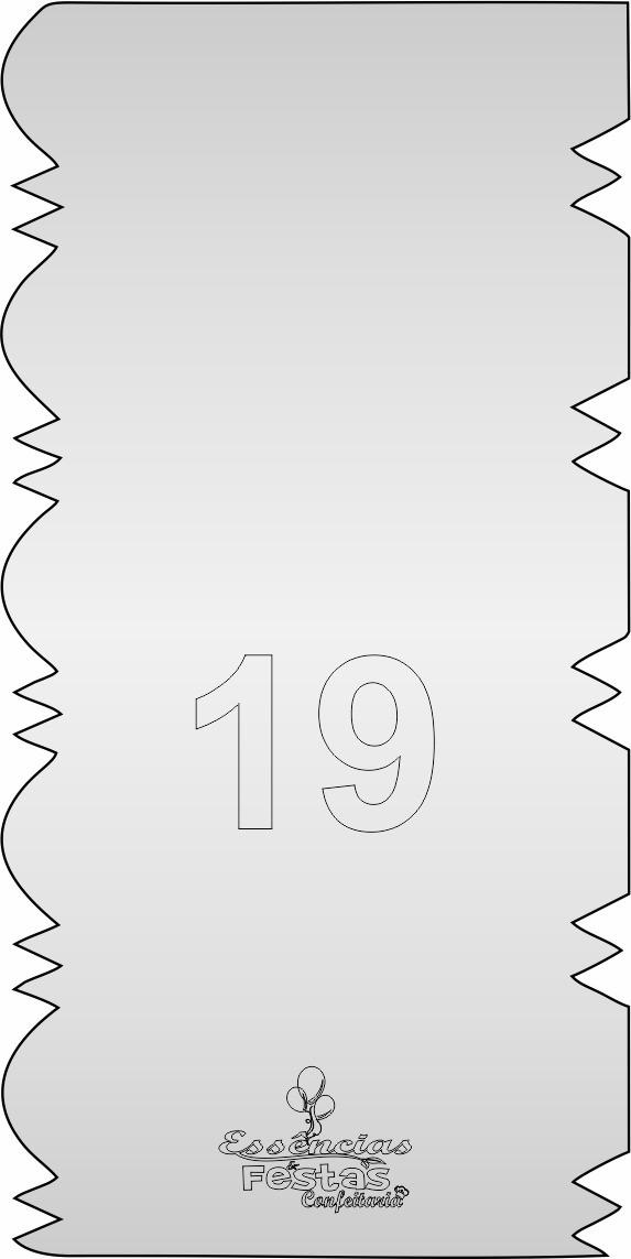 Espátula de acrilico 3mm  Decorativa N°19