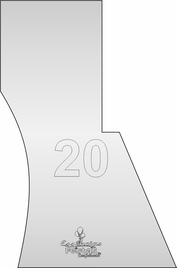 Espátula de acrilico 3mm  Decorativa N°20