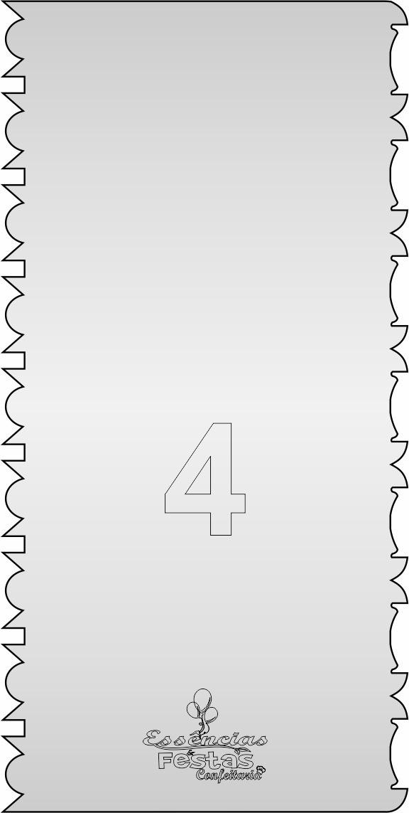Espátula de acrilico 3mm  Decorativa N°4