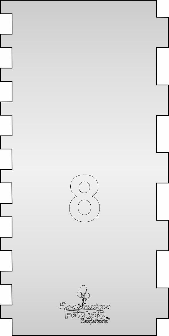 Espátula de acrilico 3mm  Decorativa N°8