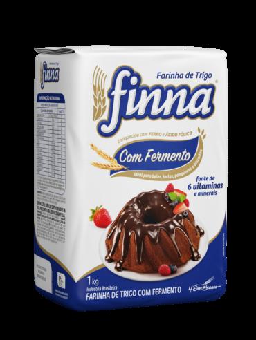 FARINHA DE TRIGO (COM FERMENTO) PAPEL 1KG - FINNA