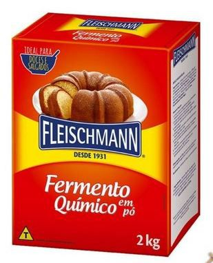 FERMENTO QUÍMICO EM PÓ FLEISCHMANN - 2KG