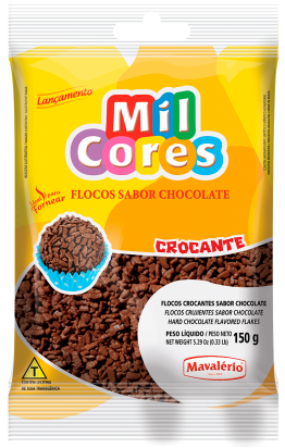 Flocos Crocante Sabor Chocolate 150g
