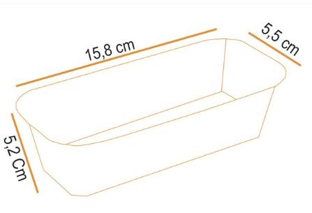 Forma Bolo Inglês Plumpy Tam. M 500g - Marron 10UN - Ecopack