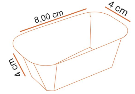 Forma Bolo Inglês Plumpy Tam. P - Marron - 10UN - Ecopack