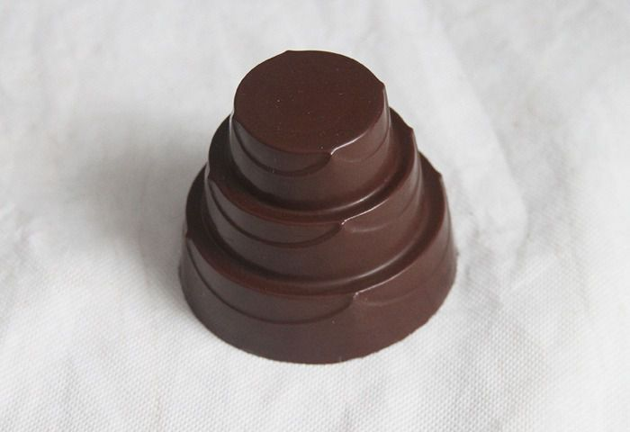 Forma de acetato com silicone bolo detalhado pequeno