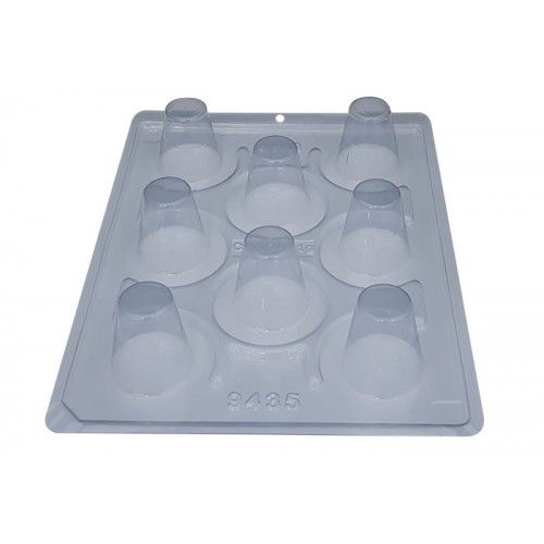Forma de acetato com silicone copo mousse 4