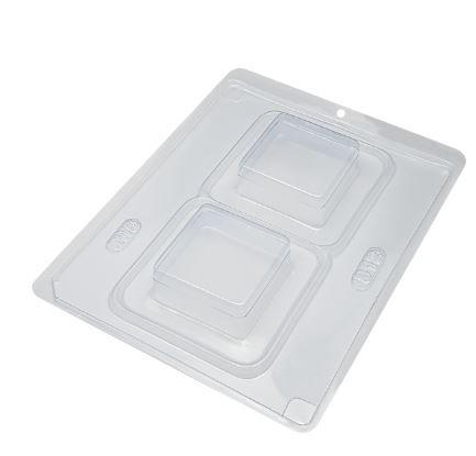 Forma de acetato com silicone pão de mel quadrado