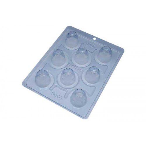 Forma de acetato com silicone trufa concava