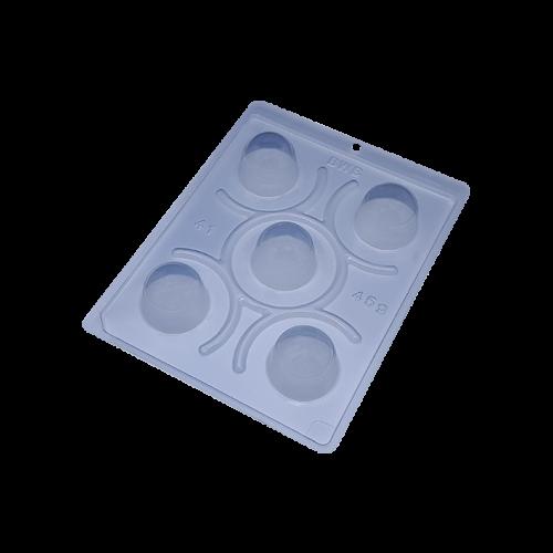 Forma de acetato com silicone trufa pequena