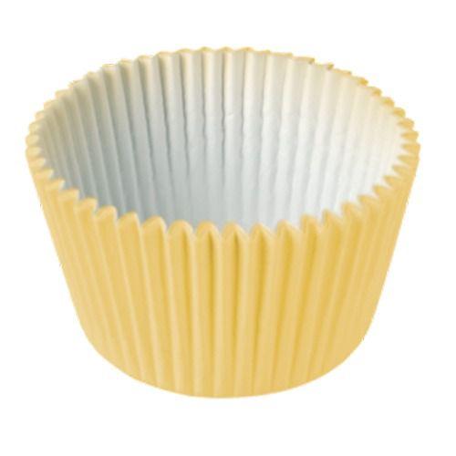 Formas p/ Cupcake Amarelo C/45 UNI