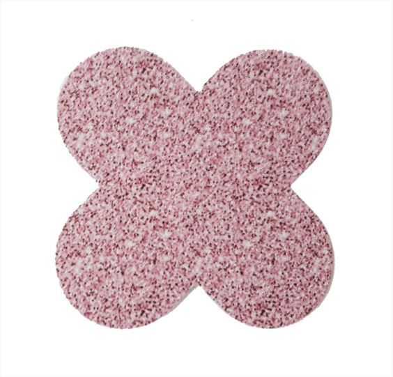 Forminha para doces 4 Pétalas Glitter Rosa 50 UN - NC Toys