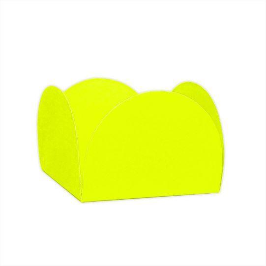 Forminhas para Doces 4 Pétalas Amarela Neon 50 UN - NC Toys