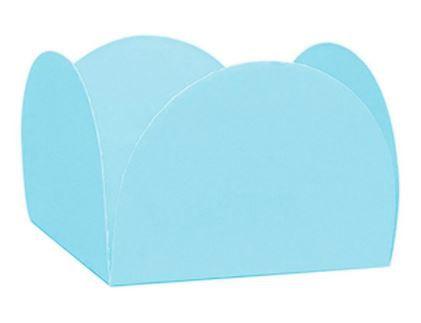 Forminhas para Doces 4 Pétalas Azul Claro 50 UN - NC Toys
