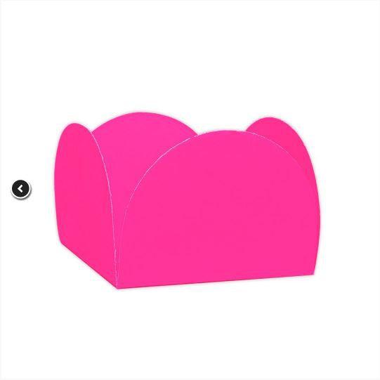 Forminhas para Doces 4 Pétalas Rosa Neon 50 UN - NC Toys