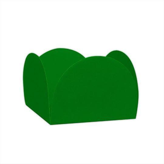 Forminhas para Doces 4 Pétalas Verde Bandeira 50 UN - NC Toys
