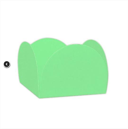 Forminhas para Doces 4 Pétalas Verde Folha 50 UN - NC Toys
