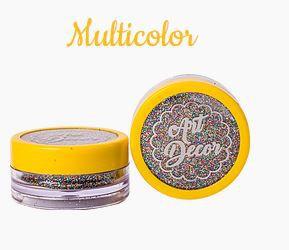 Glitter comestível Art Decor Multicolor 5g