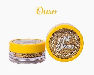 Glitter comestível Art Decor Ouro 5g