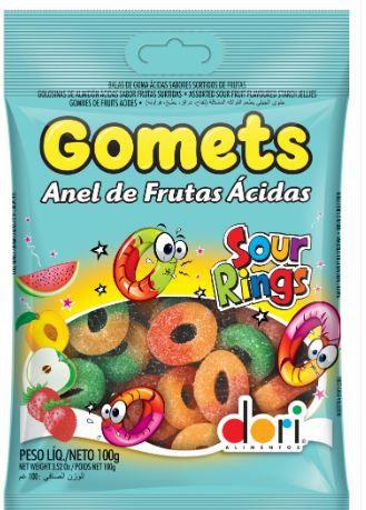 GOMETS GOMA ANEL ACIDO 100G