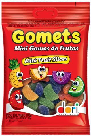 GOMETS GOMA GOMOS DE FRUTAS 100G