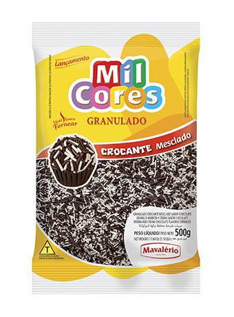 Granulado Crocante Mesclado Sabor Chocolate 500g