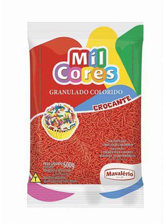 Granulado Crocante vermelho 500g