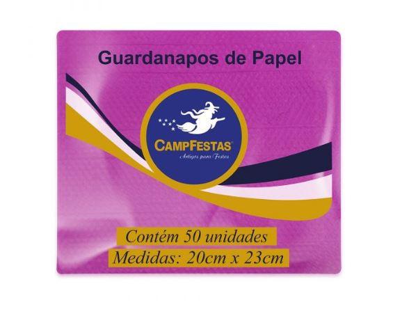 Guardanapo Crepado Folha Simples – 20cm x 23cm 50und PINK
