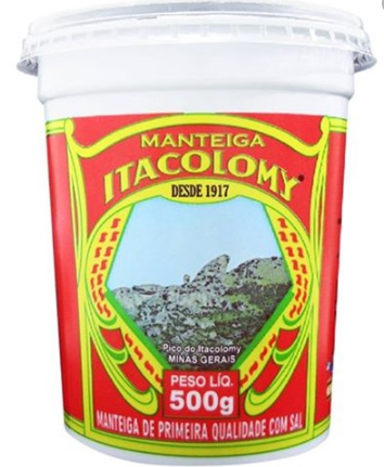 MANTEIGA ITACOLOMY C/SAL 500g.