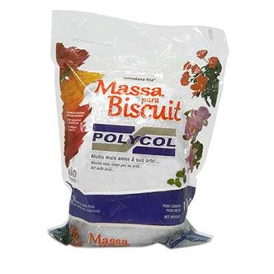 Massa para Biscuit Natural 1KG - POLYCOL