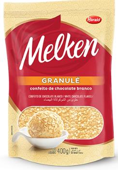 MELKEN GRANULÉ CHOC. BRANCO 400G, HARALD