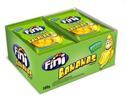 Mini Bananas Açucaradas - com 12 pacotes de 15g.