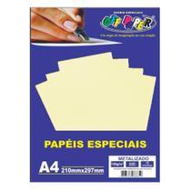 Papel especial Metalizado 150g Ouro c/15 folhas
