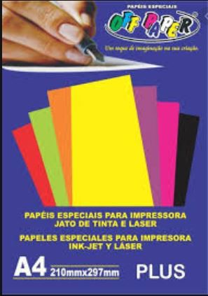 Papel especial Plus 120g Amarelo c/20 folhas