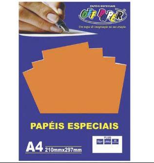 Papel especial Plus 120g Laranja c/20 folhas