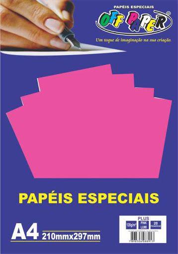 Papel especial Plus 120g Pink  c/20 folhas