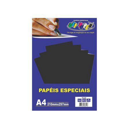 Papel especial Plus 120g Preto  c/20 folhas